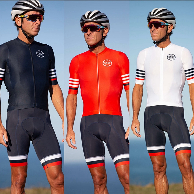 Maglia ciclismo 2019 Summer cycling clothing for men short sleeve Jersey and bib shorts sets black red white style