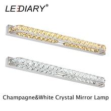 New LEDIARY Crystal 18W 90LEDs 68cm Long Bathroom LED Mirror Light  90V-260V Stainless Steel Bedroom Wall Lamp Waterproof Driver