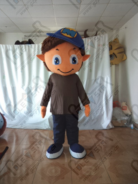Blue hat into small boy mascot costume EVA foam head cartoon monster kids mascot costumes & Blue hat into small boy mascot costume EVA foam head cartoon monster ...