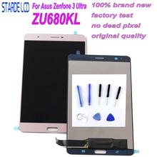 Starde LCD لشركة آسوس Zenfone 3 الترا ZU680KL A001 شاشة LCD تعمل باللمس محول الأرقام الجمعية