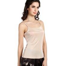 new arrival feminine pure vest 100% girls silk vest silk tank tops horny halter tops plain silk girls knit vest-b191