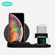 цены на 3 in 1 Fast Wireless Charger Stand Without Wire Charging Dock Station For Samsung Galaxy iPhone Apple Watch 4 Airpods For Xiaomi  в интернет-магазинах