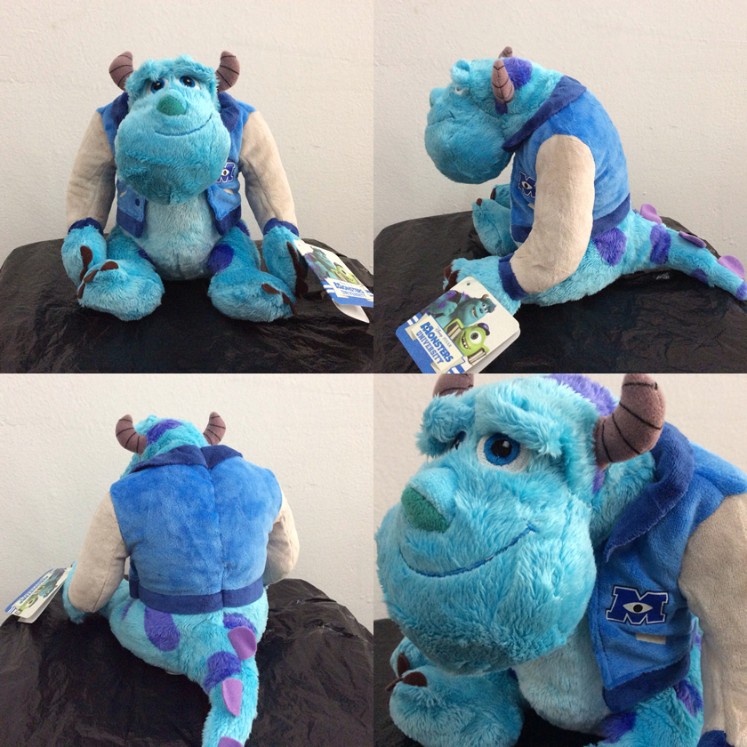 1pcs sitting 22cm Monsters University Sulley Sullivan Plush Toy Stuffed Animals Baby Kids soft Toy for Children Gifts 2016new brand cartoon beanie monsters sulley mike inc sullivan sully plush hat cute cap soft kid toy birthday gift for children