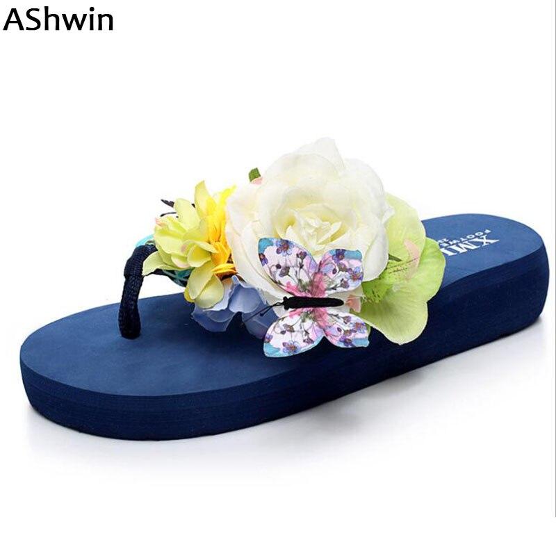 Ashwin Fashion Women Sandals Fancy Beach Flip Flops Summer -4212