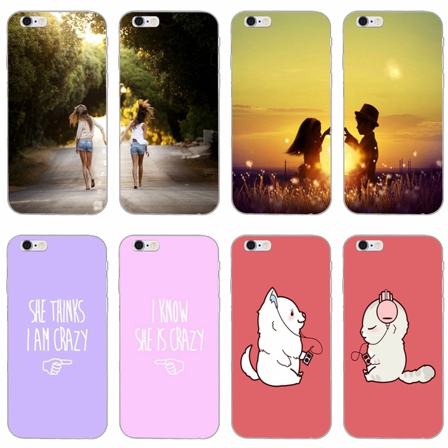 1016bdf81779 bff best friends slim silicone Soft phone case For Xiaomi Mi 6 6X A1 5 5s  5x mix max 2 Redmi Note 4 5 5A pro plus-in Half-wrapped Case from  Cellphones ...