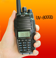 NEW 10w hunting radio TYT th uv8000d tytera FM VHF/UHF walkie talkie Radio Transceiver with Radio Communicator 3600mAh battery