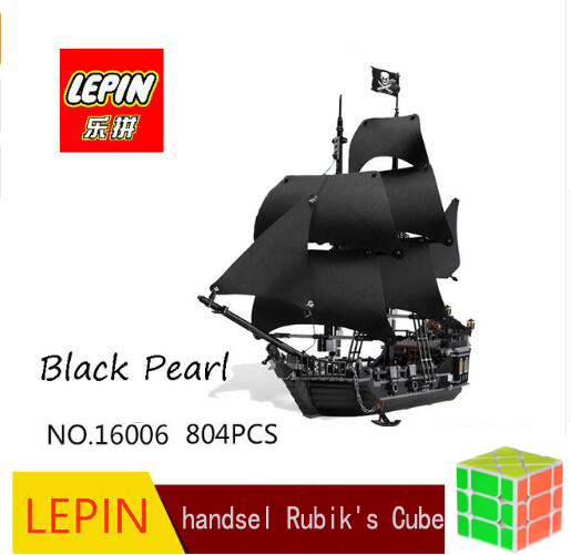 lepin blocks 16006 804pcs building bricks Pirates of the Caribbean the Black Pearl Ship model Toys Compatible DHL free shipping цена 2017
