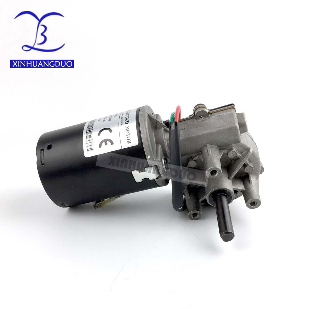 30 rpm 50 rpm 100 rpm GW6280 DC 24 v coppia elevata ingranaggio a vite senza fine riduttore del motore Minimo Ingranaggio a vite senza fine Motore tergicristallo barbecue grill motore girare a destra