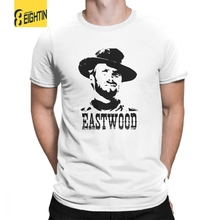 aa718ac2 EIGHT-IN'O Clint Eastwood T-Shirt Short Sleeves O-Neck T Shirts 100% Cotton  Printed