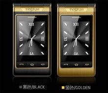 """3,0 """"dual Screen handys Dual-sim-karte-antwort anruf FM senior touch handy russische tastatur taste TKEXUN G10"""