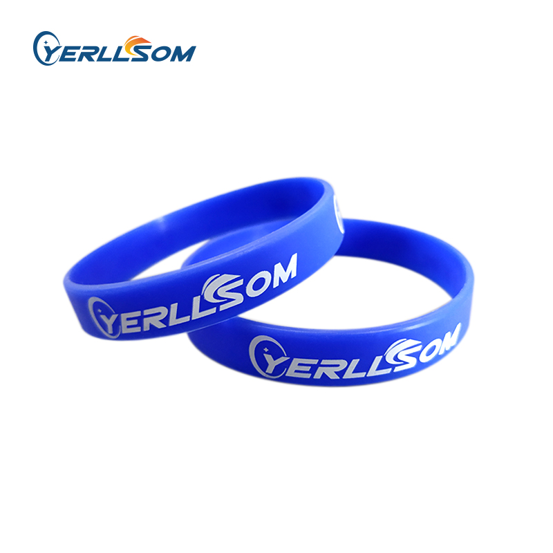 YERLLSOM 200PCS Trade Assurance Customized imprint logo bracelets silicone for wedding events S101801