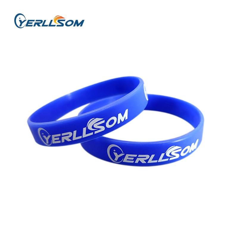 YERLLSOM 200PCS Trade Assurance Customized imprint logo bracelets silicone for wedding events S101801
