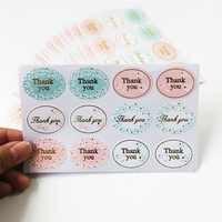 120 Pz/lotto Gold-Plated 'Thank You' Etichetta di Tenuta Vintage Fiorellino Scrapbooking Regali Fai da Te Postato di Cottura Decorazione di Cerimonia Nuziale Sticker