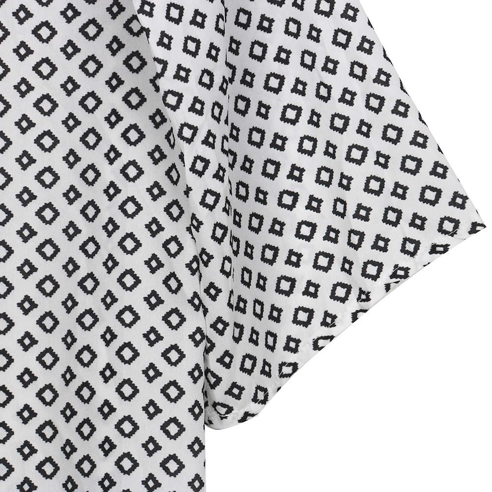 Nowa damska bluzka geometria z nadrukiem lato szyfonowa luźna kardigan kimono Boho płaszcz z szyfonu szal kardigan kimono bluzki bluzka