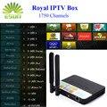 1 Año Royal CSA93 IPTV con 1930 canales 3/32G Ruso Árabe Europa kurdo IPTV Android 6.0 CAJA de 2.4G y 5G HDMI 2.0 hasta 4K2K