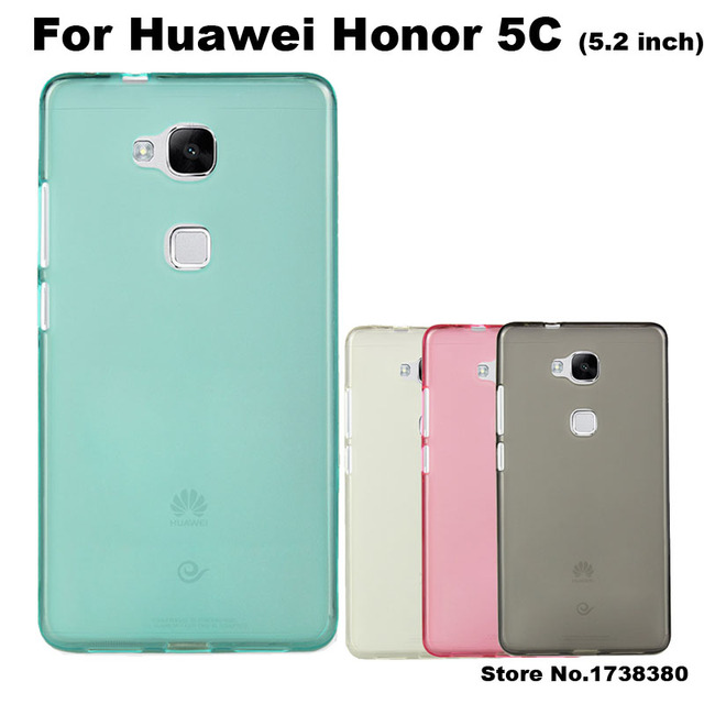 new arrival bf7df 3824f US $1.39 30% OFF Huawei Honor 5C Case Cover 4 Colors Matte TPU Soft Back  Cover Phone Case For Huawei Honor 5C Back Cover Case (5.2 inch)-in ...