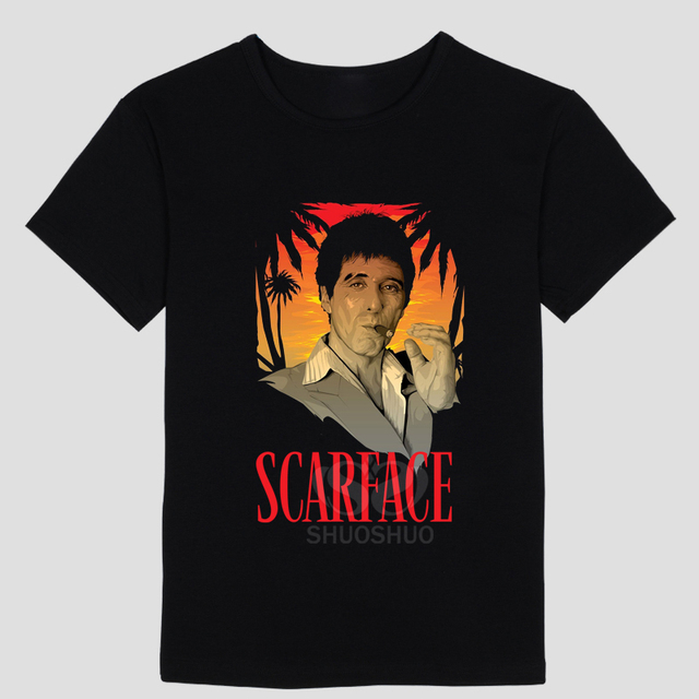 cb0d185bd New Tony Montana T Shirts Men Scarface T-Shirt What you see is what you get  Short Sleeve Cotton Casual Movie Tees Top