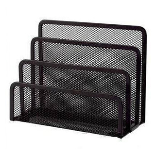 Affordable 1pcs 3-Section Mesh Letter Note Paper Business Card Collection Holder Sorter Desk Organizer blackAffordable 1pcs 3-Section Mesh Letter Note Paper Business Card Collection Holder Sorter Desk Organizer black
