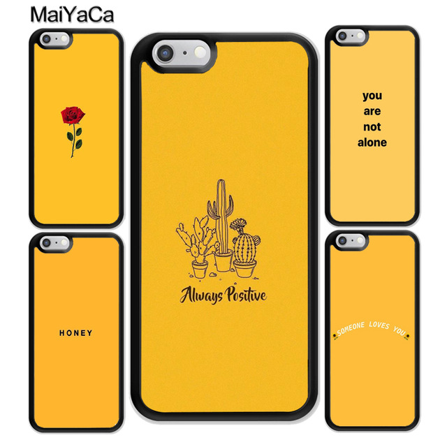 MaiYaCa Yellow aesthetic Printed for Samsung S3 S4 S5 S6 S7 S8 S9 plus edge Note 7 8 Black Soft Shell Phone Case Rubber Silicone