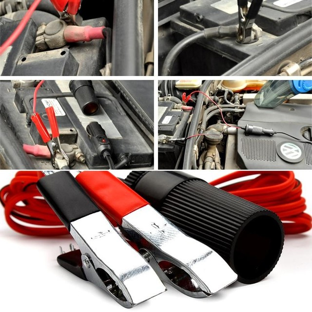 Hot Sale 12v Extension Cord Car Battery Terminal Clip On Cigar