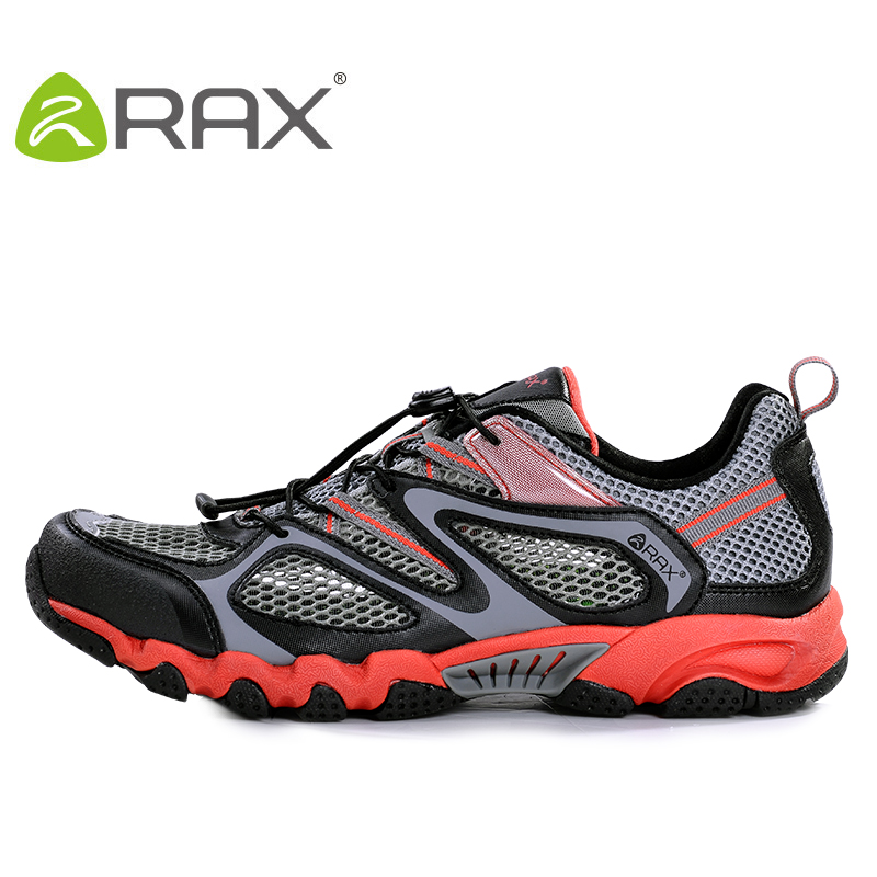 Rax Breathable Trekking Shoes Men Mesh Outdoor Quick drying Hiking Shoes Men Lightweight Outdoor Walking Shoes Men Sneakers rax 2015 mens outdoor hiking shoes breathable mesh suede trekking shoes men genuine leather sneakers size 39 44 hs25