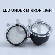 2X LED Under Side Mirror Puddle Light fit for Ford Edge Fusion Flex Explorer Mondeo Taurus F-150 Expedition цена 2017