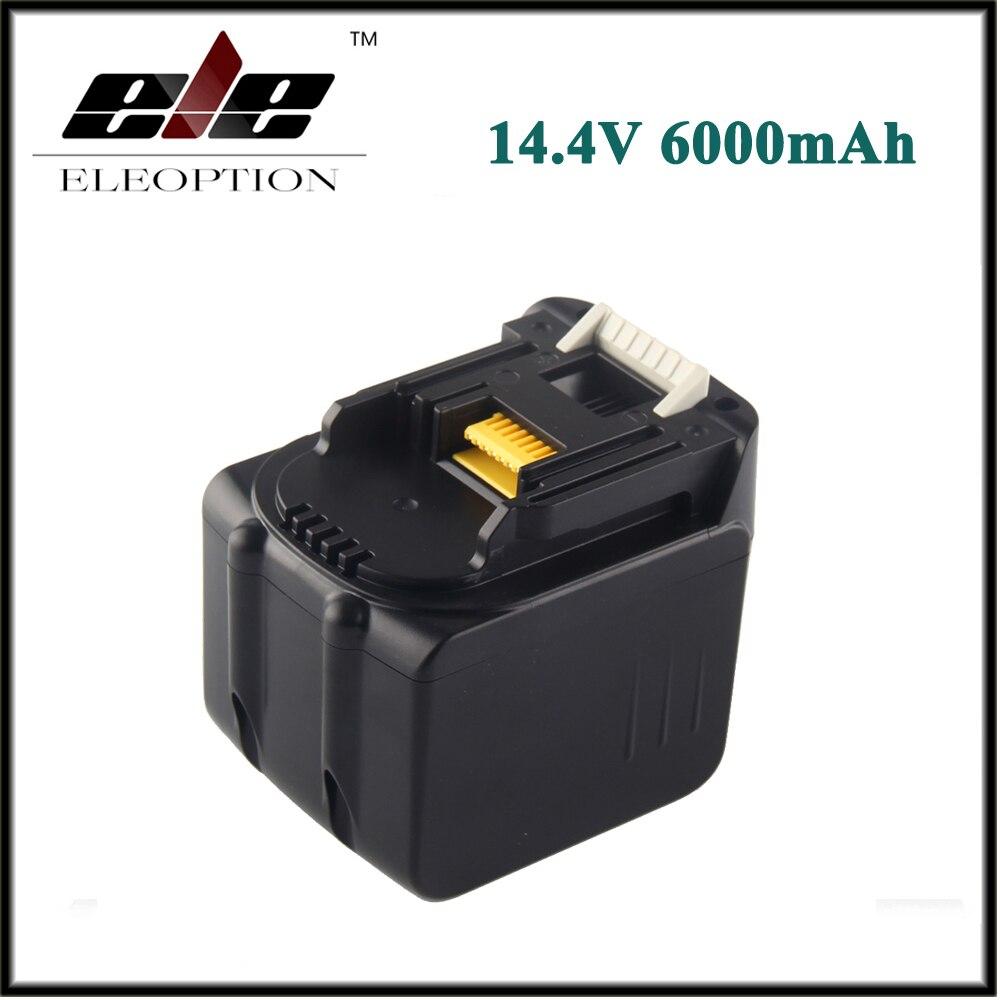 Eleoption High Capacity 6000mAh 14.4V Li-Ion Battery For MAKITA BL1430 BL1415 194066-1 194065-3 194559-8 цена