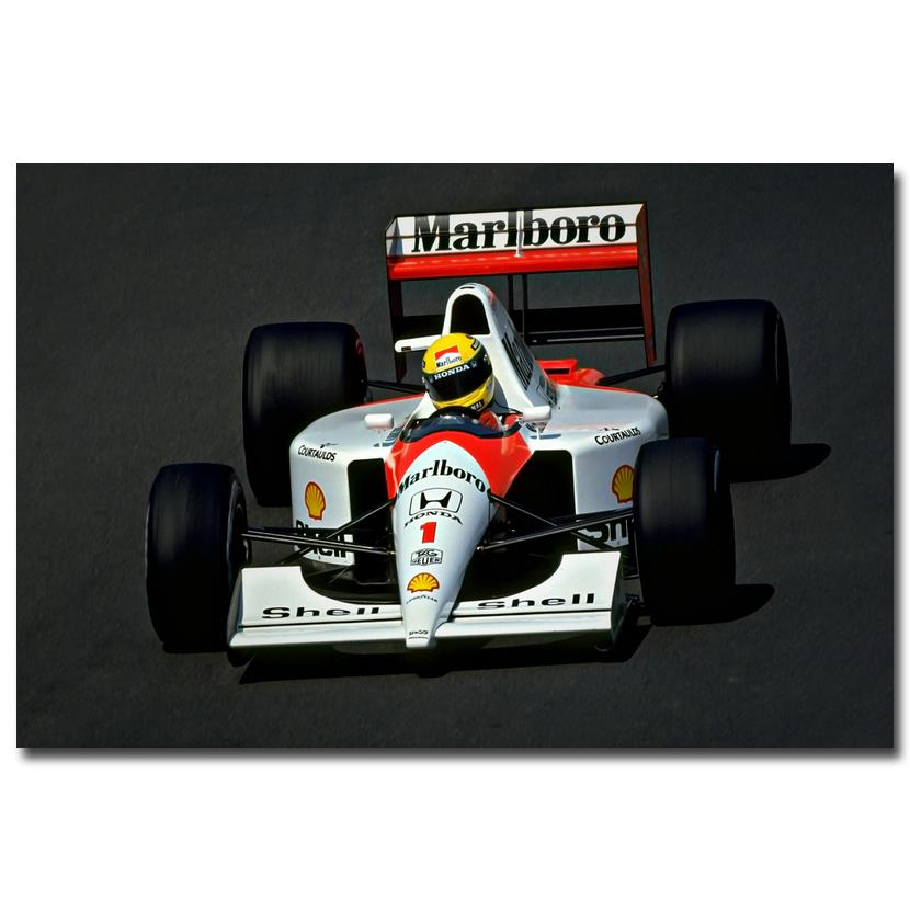 Nicoleshenting ayrton senna da silva car racer art silk for Living room 12x18