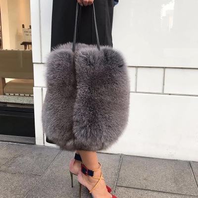 2018 New Winter Faux Fur Women Handbags Luxury Handle Totes Bag Designer Clutch Purse Ladies Shoulder Bag Bolsa Feminina