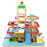 Diecasts Toy Vehicles Kids Toys train Model Cars wooden puzzle Building slot track Rail transit car parking Garage Gifts
