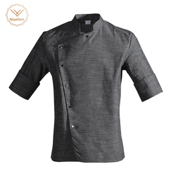 Новинка, унисекс, Японский Корейский стиль, средний рукав, форма повара, верхняя одежда официанта, рабочая одежда для ресторана, рубашка пов...