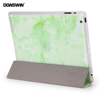 For Ipad 2 3 4 Case Dowswin 8 Colors Wood Print Pattern Pu Smart Cover With
