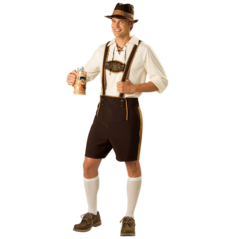 Factory Direct Sale Adult Men Traditional German Oktoberfest Bavarian Festival Beer Guy Costume Full Range Of Sizes