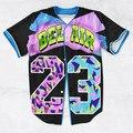 2 Цветов Настоящее США Размер На Заказ Мода 3D Сублимации распечатать Bel Air 23-Принц Бейсбол Джерси Плюс размер