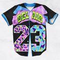 2 Colors Real USA Size Custom made Fashion 3D Sublimation Print Bel Air 23 - Fresh Prince Baseball Jersey Plus Size