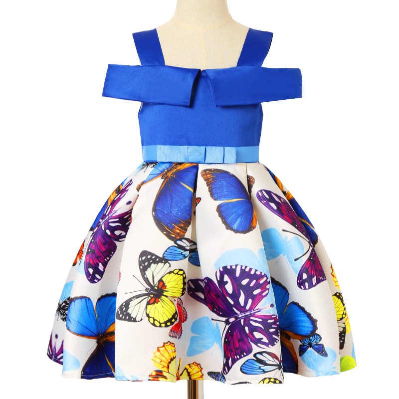 Dresses For Girls Spring Summer New Clothes Holiday The Princess Fancy Dress Butterfly Carnival Costumes Girls Clothing Flower the perfect holiday