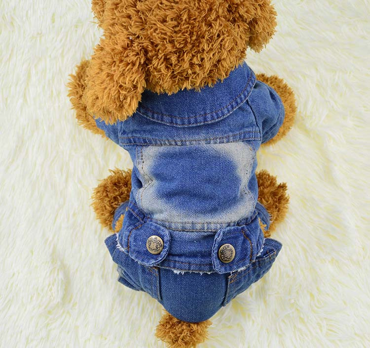 Thick Winter Pet Jeans Clothes Dog Coat Jumpsuit Overalls For Small and Large Dogs High Quality Dog Jeans Apparel Factory Outlet7
