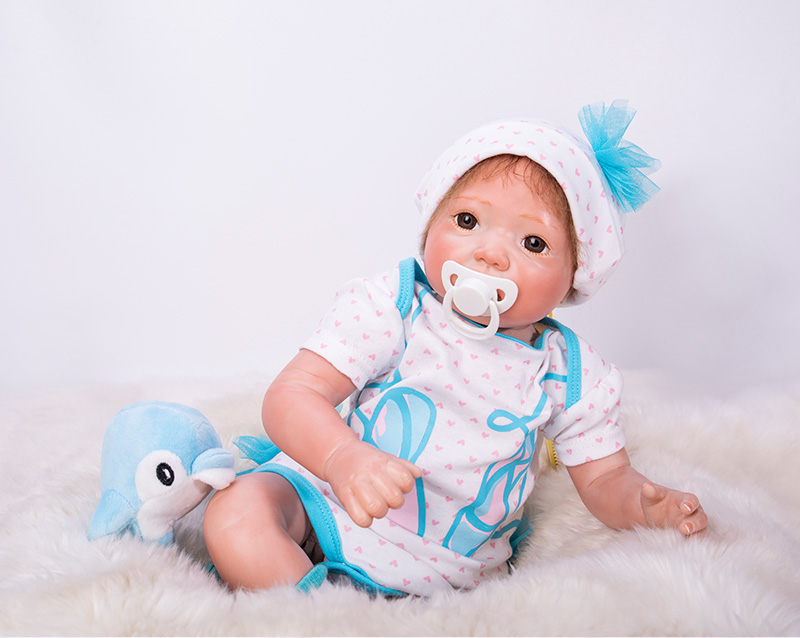 20inch adorable girl doll reborn realistic newborn babies soft touch blue clothes best children girls toys gift boneca20inch adorable girl doll reborn realistic newborn babies soft touch blue clothes best children girls toys gift boneca