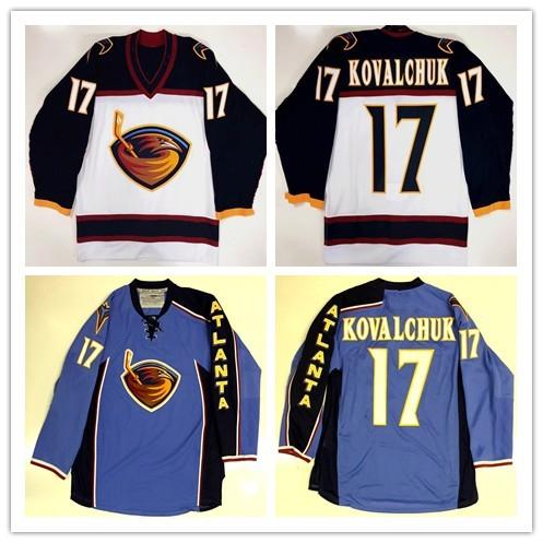 d09f52064 ... cheap atlanta thrashers 17 ilya kovalchuk hockey jersey embroidery  stitched customize any number and name jerseys