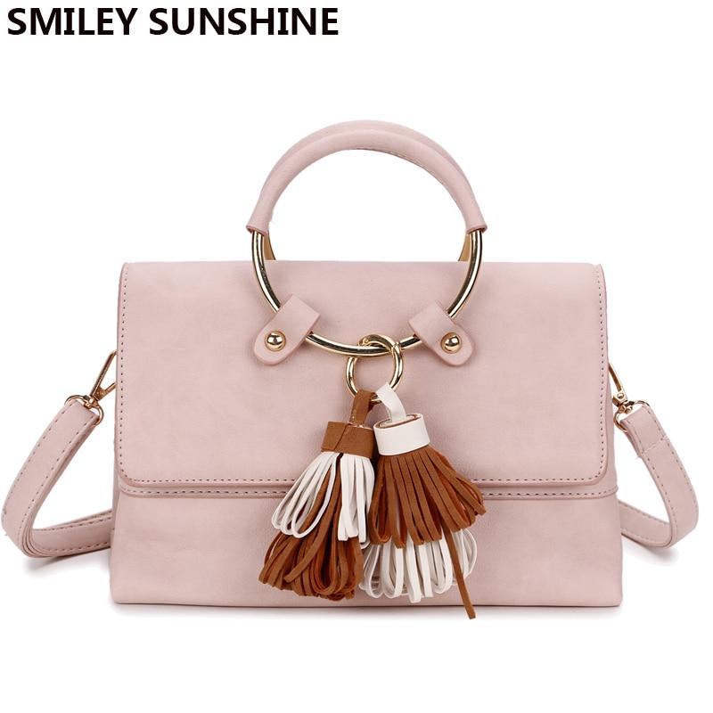 SMILEY SUNSHINE marka çerçeve kadın haberci çanta yaz küçük - Çanta
