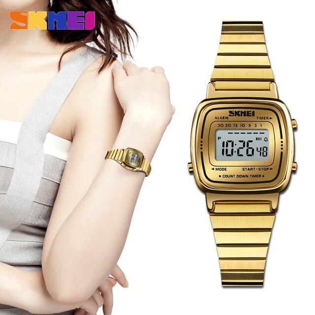 7db6f775e SKMEI 1252 Moda Luxo Mulheres Relógios Senhora Relógio de Contagem  Regressiva Digital LEVOU À Prova D