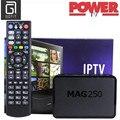 Mag250 con Alimentación de REINO UNIDO IPTV Caja 2200 + Pavo Alemania Francés Spanin deportes XXX Adultos Hot club canales IPTV Smart Set Top Box