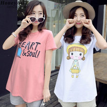 Summer with short sleeves  Han edition Women's clothing  Cultivate one's morality T-shirt  Pure cotton  Cartoon dress DD322z