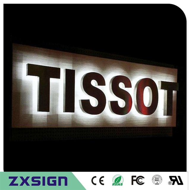 Ideal Factory Outlet Stainless steel led backlit metal letters, back  GU24