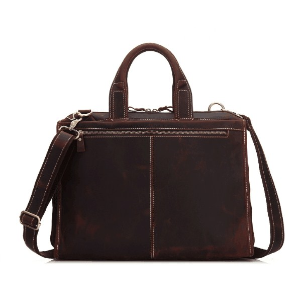 Genuine Leather Cow Skin Casual Large Capacity Men Briefcase Office Business Bag