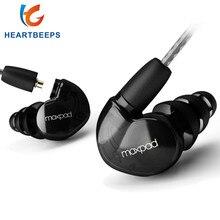 Moxpad X6 auriculares intrauditivos deportivos con micrófono para Huawei, XiaoMi, teléfonos móviles, Cable de repuesto + auriculares aislantes de ruido