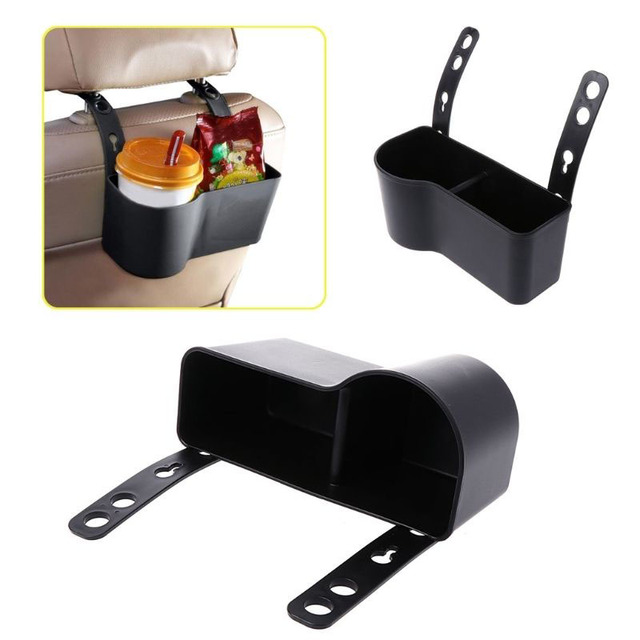 Car Cup Holder Car Headrest Seat Back Mount Organizer Multifunctional Vehicle Cup Drink Holder Stand Boxes Storage Box