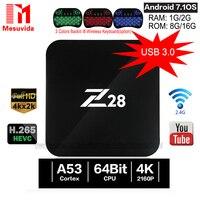 Android 7 1 TV Box Z28 Rockchip RK3328 64bit Cortex A53 1GB 8GB 2GB 16G Set