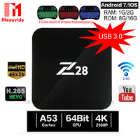 Android 7 1 TV Box Z28 Rockchip RK3328 64bit Cortex A53 1GB 8GB 2GB 16G Set