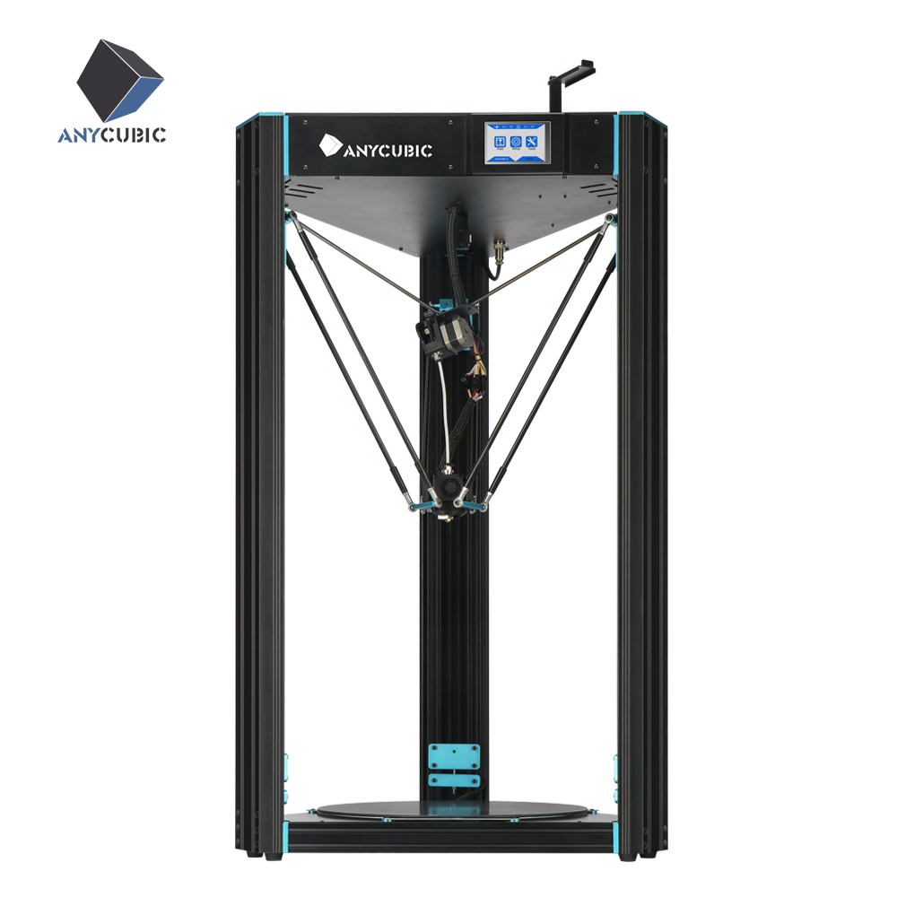 ANYCUBIC Predator 3D Printer Plus Size 370 370 455mm Delta Kossel pre assembled Ultrabase Pro 3D
